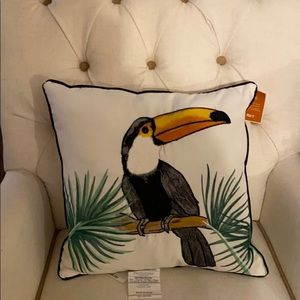 Toucan Outdoor Pillow